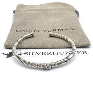 David Yurman 4mm X Station Bracelet Pavè Diamonds